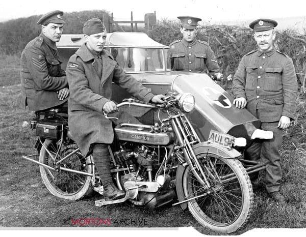 First World War - A Campion sidecar ambulance, in April 1918.