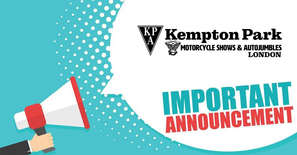Kempton Park Autojumble cancelled.